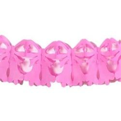 Girlanda papierová Zvončeky ružové, 22x25x400cm, 1ks