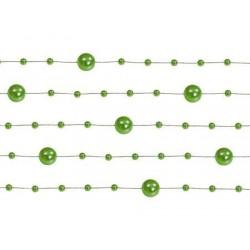 Girlanda perlová zelená, 130cm, 5ks