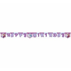 Girlanda s nápisom Happy Birthday Frozen - Ľadové kráľovstvo