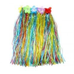 Havajská sukienka rôznofarebná, veľkosť S dlžka 40cm,1ks