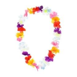 Havajský náhrdelník farebný kvet Ibišteka, 100cm