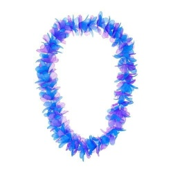 Havajský náhrdelník modro-fialový, 120cm