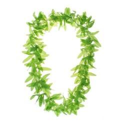 Havajský náhrdelník zelené listy, 100cm