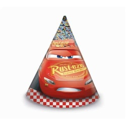 Klobúčiky Cars 3, 6ks