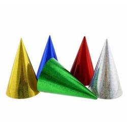 Klobúčiky holografické mix farieb, 1ks