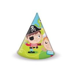 Klobúčiky Malý pirát, 6ks