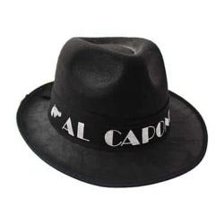 Klobúk AL Capone, čierny