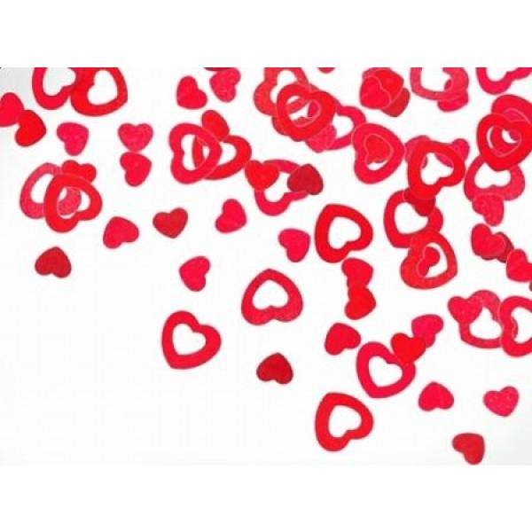 Konfety fóliové Srdcia červené, 9mm, 15g