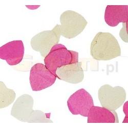 Konfety papierové Srdcia bielo-ružové, 25g