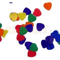 Konfety papierové Srdcia farebné, 25g