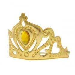 Korunka snežná kráľovná, zlatá, mäkká s gumičkou