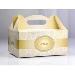 Krabica na tortu Svadobné obrúčky, 19x14x9cm, 10ks