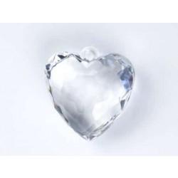 Kryštálové srdce, 4cm, 1ks
