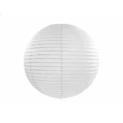 Lampión dekoračný guľa biely, 25cm