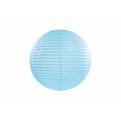 Lampión dekoračný guľa bledomodrý, 20cm