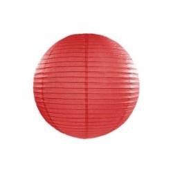 Lampión dekoračný guľa červený, 25cm