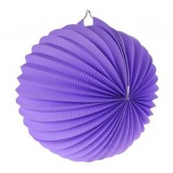 Lampión dekoračný guľa fialový, 25cm