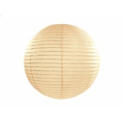 Lampión dekoračný guľa krémový, 25cm