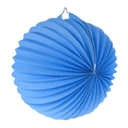 Lampión dekoračný guľa modrý, 25cm