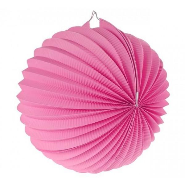 Lampión dekoračný guľa ružový, 25cm