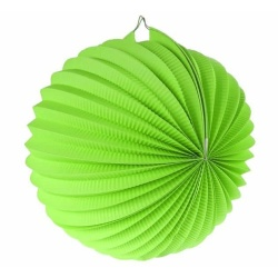 Lampión dekoračný guľa zelený, 25cm