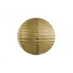 Lampión dekoračný guľa zlatý, 20cm
