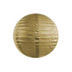 Lampión dekoračný guľa zlatý, 25cm