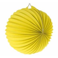 Lampión dekoračný guľa žltý, 25cm