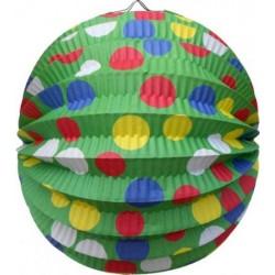 Lampión okrúhly Párty zelený, 24cm, 1ks