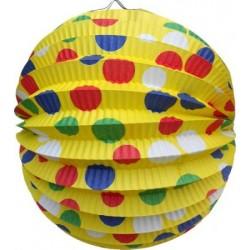 Lampión okrúhly Párty žltý, 24cm, 1ks