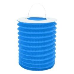 Lampión valec modrý, priemer 15cm, na sviečku, 1ks