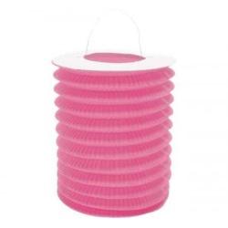 Lampión valec ružový, priemer 15cm, na sviečku, 1ks