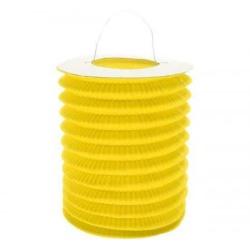 Lampión valec žltý, priemer 15cm, na sviečku, 1ks