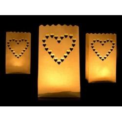 Lampión - vrecko Srdce, 15x9x26cm, 1ks