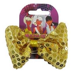 Motýlik zlatý s trblietkami, 11cm