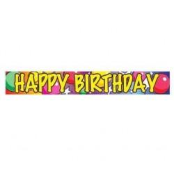 Nápis Happy Birthday Balóny, 180cm, 1ks