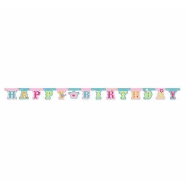 Nápis Happy Birthday s korunkou, 1ks