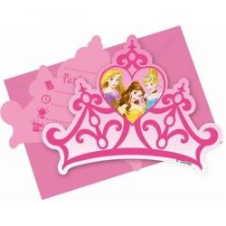 Narodeniné pozvánky Disney princezny, 6ks
