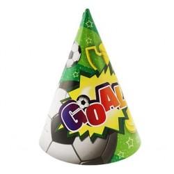 Narodeninové čapice Futbal gól, 6ks
