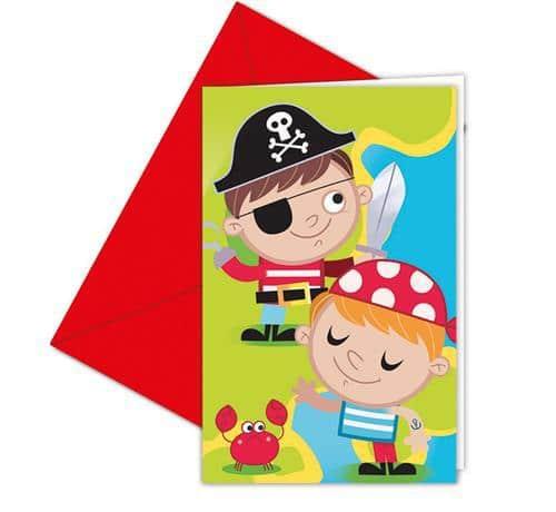 Narodeninové pozvánky Malý pirát, 6ks
