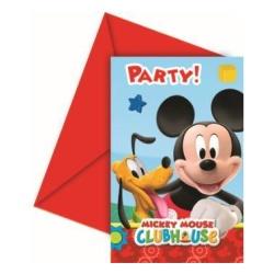 Narodeninové pozvánky Mickey Playful, 6ks