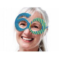Okuliare 60. narodeniny modré