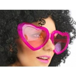 Okuliare Mega srdcia ružové