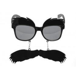Okuliare s fúzami  čierne