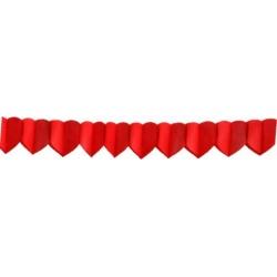 Papierová girlanda srdcia červené, 400 x 16.5cm, 1ks