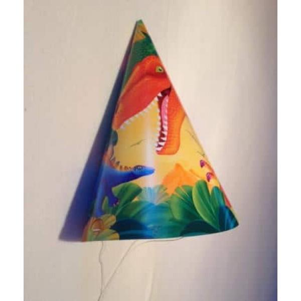 Papierové klobúčiky Dinosaurus, 8ks