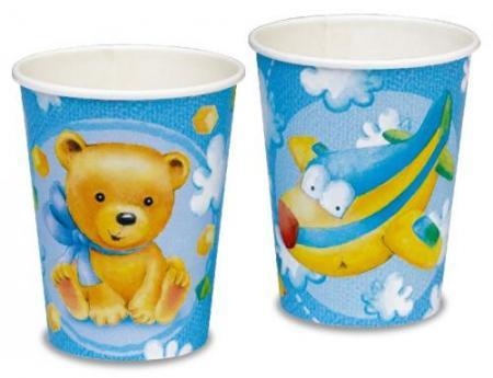 Papierové poháre Birhday BOY, 8ks