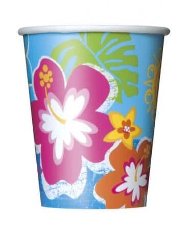 Papierové poháre Havaj, 8ks