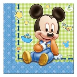 Papierové servítky Mickey Baby BOY,  20ks