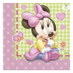 Papierové servítky Minnie Baby Girl, 20ks